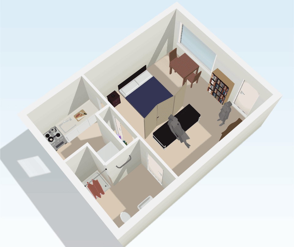 Maple Valley Apartments: Studio Apartment Floorplan Layout 1